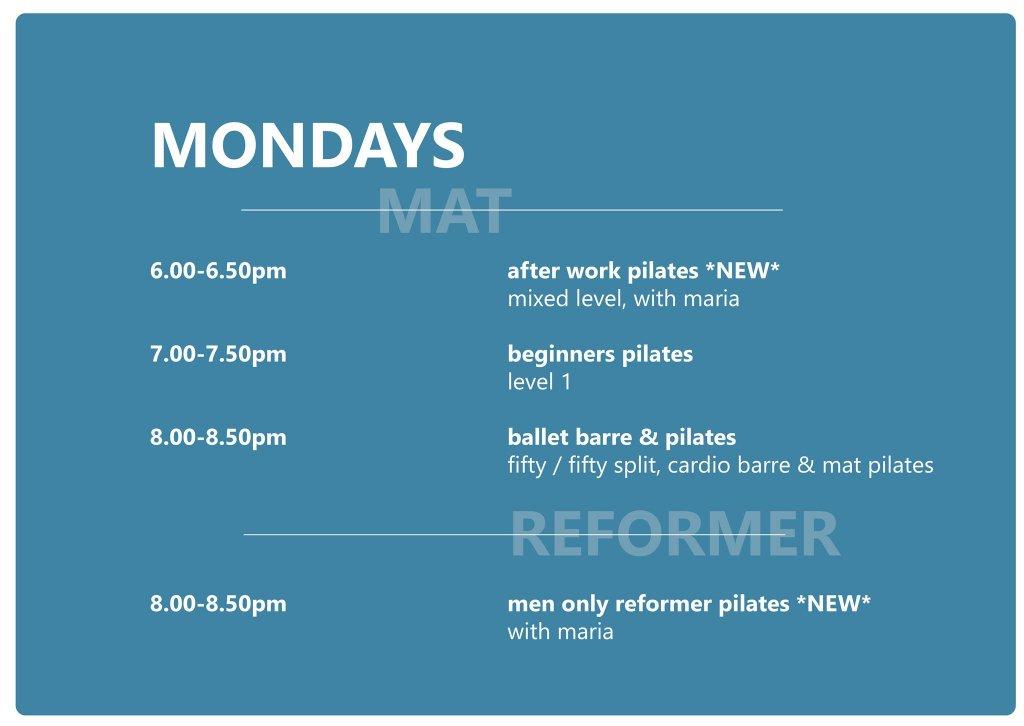 Monday Schedule