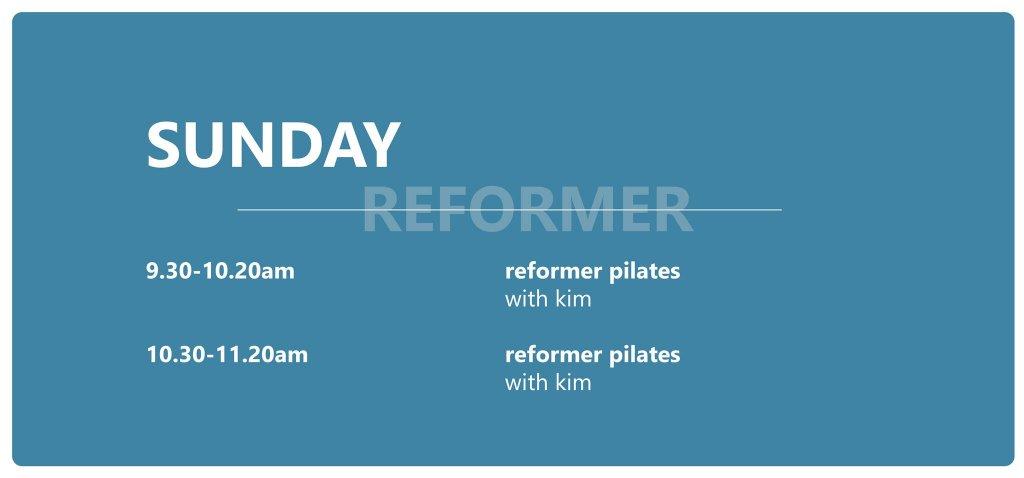 Schedule - Sunday