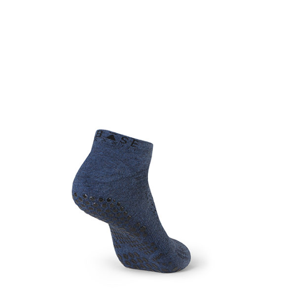 Base Navy Grip Socks