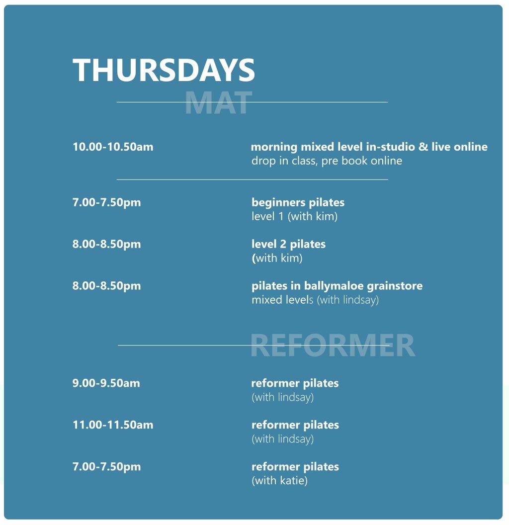 Class Schedule - Click to book